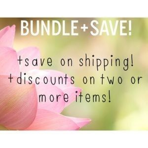 Bundle and save on 2 OR MORE ITEMS